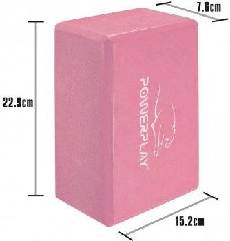 Блок для йоги PowerPlay 4006 Yoga Brick Розовый (PP_4006_Pink_Yoga_Brick)