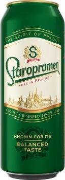 Упаковка пива Staropramen світле фільтроване 4.2% 0.5 л 24 шт. (4820034921128)