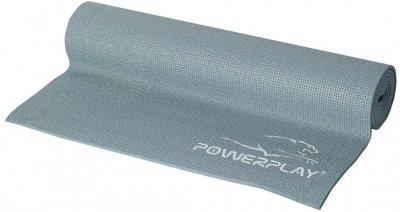 Килимок для фітнесу та йоги PowerPlay 4010 173х61х0.6 см Сірий (PP_4010_Grey_(173*0,6))