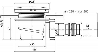Сифон для душевого поддона ANI PLAST Е325C/E326C