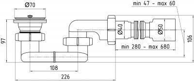 Сифон для душевого поддона ANI PLAST Е015/E016