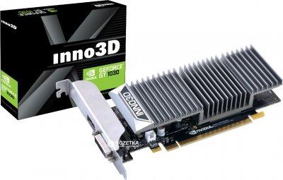 INNO3D PCI-Ex GeForce GT 1030 2GB GDDR5 (64bit) (1227/6000) (DVI, HDMI) (N1030-1SDV-E5BL)