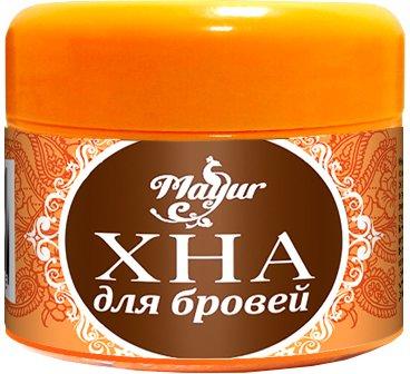 Хна для бровей Mayur 10 г Темно-коричневая (4820189560425)