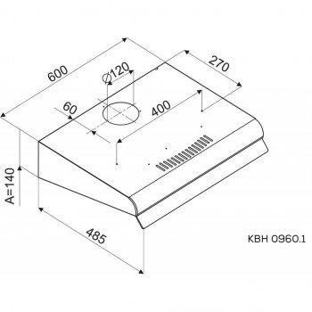 Витяжка кухонна Kernau KBH 0960.1 W