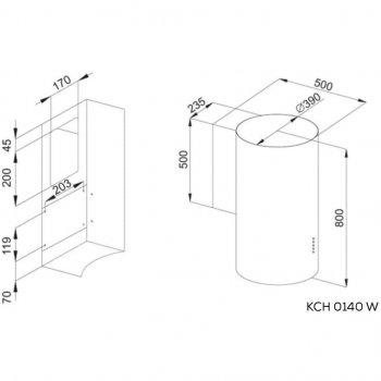 Витяжка кухонна Kernau KCH 0140 W