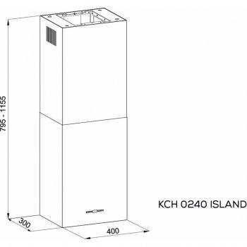Витяжка кухонна Kernau KCH 0240 W ISLAND