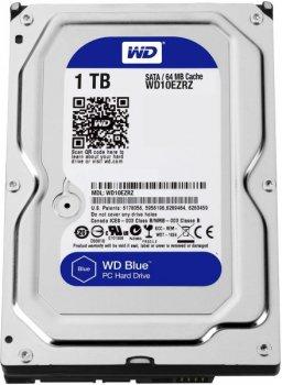 """Жорстку диск HDD 1TB Western Digital Blue 3,5"""", SATA 3, 64MB, 5400rpm (WD10EZRZ)"""