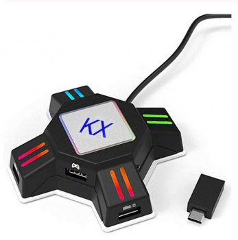Конвертер миші і клавіатури KX Adapter для Sony PlayStation 4/Sony PlayStation 3/ Xbox One/ Nintendo Switch чорний