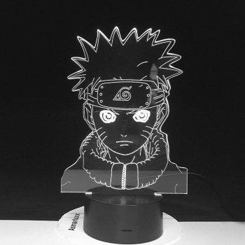 Настільний світильник-нічник Наруто Узумакі дитина - Naruto Uzumaki16 квітів 3D USB (8219)