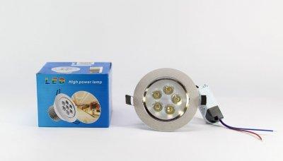 Лампочка LED LAMP 5W Врезная круглая точечная 1402 UKC
