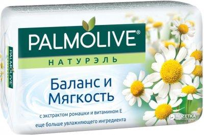 Мыло Palmolive Натурэль туалетное Баланс и мягкость с экстрактом ромашки и витамином Е 150 г (8693495052788)