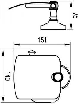 Тримач для туалетного паперу AQUA RODOS Мілано закритий 9626 бронза