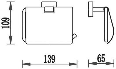 Тримач для туалетного паперу закритий AQUA RODOS Терра 4786 хром