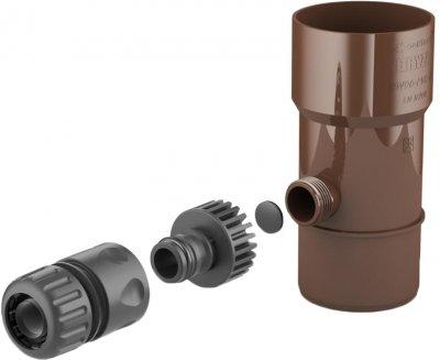 Забірник дощової води BRYZA 90 мм Коричневий (62-202)