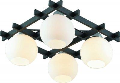 Стельовий світильник Altalusse INL-3089C-04 Chrome & Wengue Е27 4х60Вт
