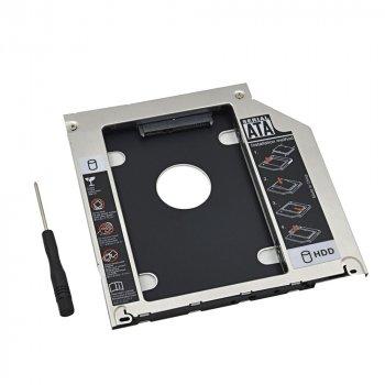 "Адаптер DVD для подключения 2.5"" HDD/SSD SATA в отсек привода Apple Macbook 9.5 мм (Optibay Caddy 9.5мм)"