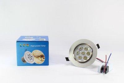Лампочка LED LAMP 7W Врезная круглая точечная 1403 UKC