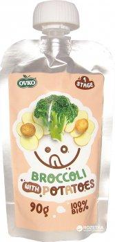 Овочеве органічне пюре OVKO Броколі, картопля з 6 місяців 90 г (8586019160277)