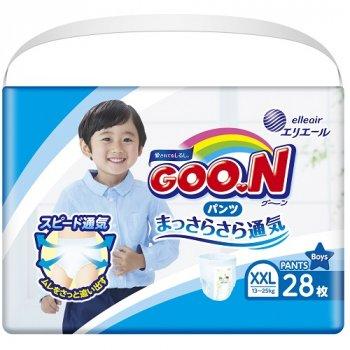 Японські підгузники-трусики для хлопчиків Goo.N BigBig XXL 13 - 25 кг Розмір 7 28 шт (853884)