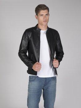 Мужская кожаная куртка FELIX HARDY Черная (FE2874395)