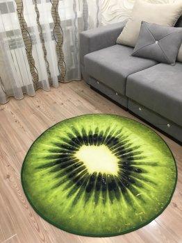 Килим 3D Ківі, діаметр 120 см Kiwi (ZZ41op618434234)