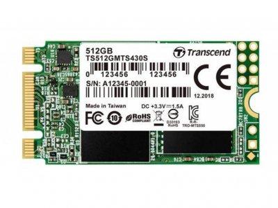 SSD накопичувач TRANSCEND MTS430S 512GB M. 2 SATA 3D TLC (TS512GMTS430S)