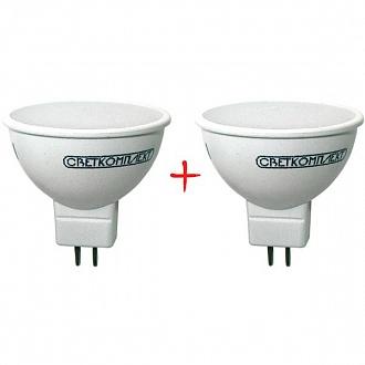 Лампа LED Светкомплект MR16 E 5 Вт GU5.3 холодний світ 2 шт