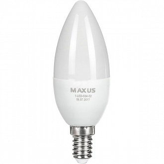 Лампа Maxus LED C37 CL-F 6 Вт E14 4100K