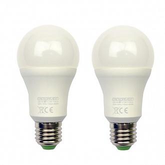 Лампа LED Светкомплект A60 E27 12 Вт 3000K тепле світло 2 шт