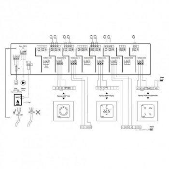 Комутаційне пристрій Danfoss Icon Master 088U1030, 8 каналів, 230 В