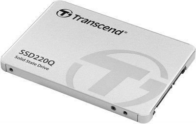 """SSD накопичувач TRANSCEND SSD220Q 1TB 2.5"""" SATAIII, QLC (TS1TSSD220Q)"""