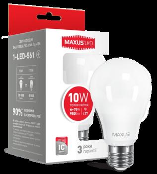 Світлодіодна лампа Maxus 561 A60 10W 3000K 220V E27 (52764)