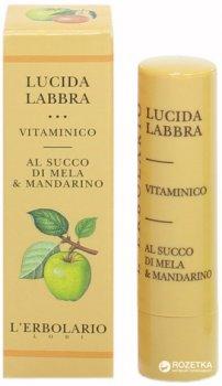 Витаминный блеск для губ Lerbolario на базе яблочного сока и мандарина 4.5 мл (8022328101391)