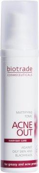 Тоник матирующий для жирной и склонной к акне кожи Biotrade ACNE OUT 60 мл (3800221840631)