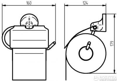 Тримач для туалетного паперу HACEKA Aspen закритий (405313)