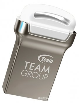 Team C161 USB 2.0 32GB Silver-White (TC16132GW01)
