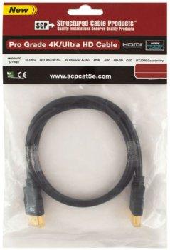 Кабель SCP 944E-10 HDMI to HDMI 3 м UltraHD 4K Black PVC (SCP944E-10)