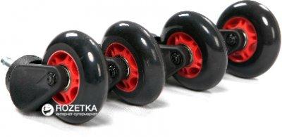 Ролики для офісних крісел AKRacing PU комплект 5 шт. Червоні (Big PU wheels red)