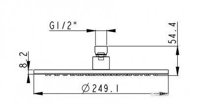 Верхний душ круглый AQUA RODOS Rodos 010СP 250 мм (хром) SC0000101