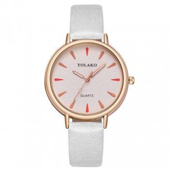 Женские классические часы Yolako, циферблат - белый, арт. (41434)