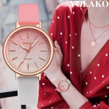 Женские классические часы Yolako, циферблат - розовый, арт. (41442)