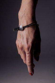 Кожаный браслет с серебром EJ Joss EJB018-1