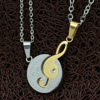 Парные кулоны YST для двоих Скрипичный Ключ