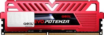Оперативна пам'ять GeIL DDR4-2666 8192MB PC4-24000 Evo Potenza Red (GPR48GB2666C19SC)