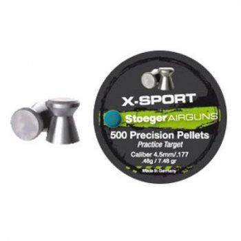 Пульки Stoeger X-Sport Flat 4.5мм/177 0.48g (500шт.) (98814500014)