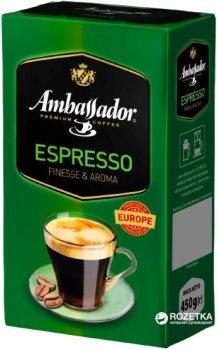 Кофе молотый Ambassador Espresso 450 г (8719325127386)