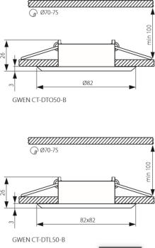 Світильник точковий Kanlux Gwen CT-DTL50-B (KA-18530)
