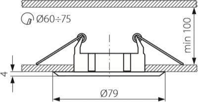 Світильник точковий Kanlux CTC-5514-MPC Vidi (KA-2812)