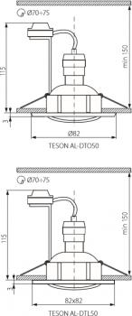 Світильник точковий Kanlux Teson AL-DTO50 (KA-7370)