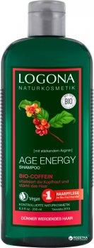 БИО-Шампунь Укрепление и Рост Logona для волос с возрастными изменениями с Кофеином 250 мл (4017645032156)